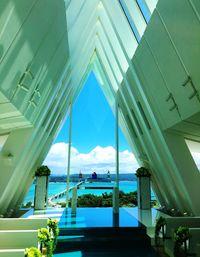 古宇利島の空と海に愛誓う リゾ婚施設「空と海の教会」が開業