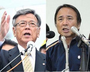 翁長知事(左)と山城議長(資料写真)