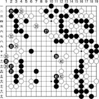 [第43期・碁聖戦]/本戦1回戦 第9局/第7譜/(127〜142)