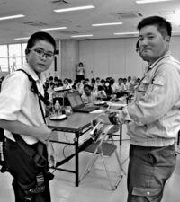 仕事のやりがい 楽しさも丁寧に/宜野湾 嘉数中でキャリア教育
