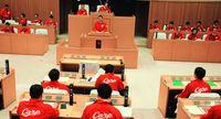 カープカラー 全会一致/沖縄市議会 赤ジャンパーで応援