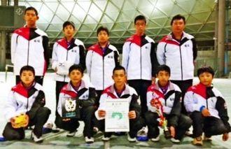 中学ソフトテニスで九州準優勝だった国頭(提供)