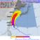 29日15時から4日15時までに、台風18号の暴風域に入る確率(気象庁HPより)