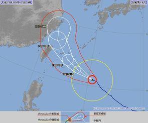 台風18号(12日9時現在、気象庁HPから)