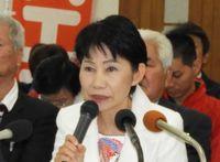 「市民に優しい市へ」 うるま市長選、沖縄県議の山内末子氏が出馬表明