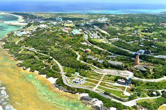 USJの沖縄進出に関連し、政府が活用を検討している本部町の国営公園・海洋博公園=2013年8月31日