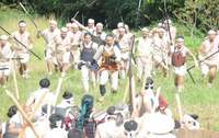 琉球の戦国時代リアルに再現 ドラマ「尚巴志」合戦シーン撮影