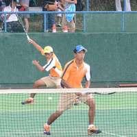 <全国高校総体>ソフトテニス男子 那覇西の稲福・山田組が3回戦進出