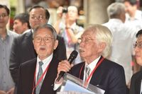 戦後沖縄の第1号アナウンサー、母校で講演 「台湾の人たちからの恩義忘れない」