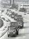 通貨交換・厳戒の輸送 日本円の入ったコンテナが日銀那覇支店まで陸上輸送された=1972年5月2日