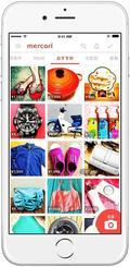 フリーマーケットアプリ「メルカリ」のイメージ画面