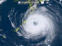 非常に強い台風19号(ソーリック)大東島地方に最接近 南大東で最大瞬間風速25.5メートル