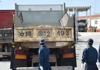 辺野古新基地:砕石など搬入続く ゲート前で「違法工事やめろ」訴え