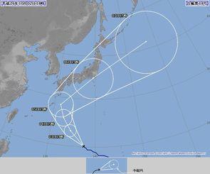 台風18号の進路予想図(気象庁のホームページより)