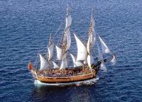 クックの復元帆船、豪1周へ 上陸250年記念の来年