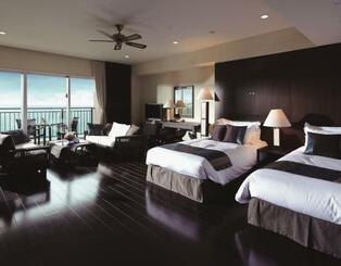 県民限定プランで泊まれるカフーリゾートフチャクコンド・ホテルの部屋の例(KPGホテル&リゾート提供)