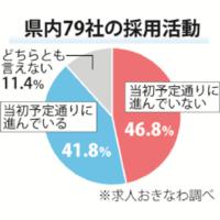2017年新卒採用、46.8%「遅れ気味」沖縄企業79社調査