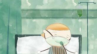 日本と中国、韓国の美術系大学の大学院生が共同制作した短編アニメの一場面(東京芸大提供)