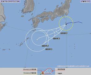 台風10号の進路予想図