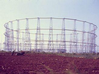 1968年当時の楚辺通信所(象のオリ)