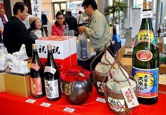 巨大な10升瓶も登場した久米島の久米仙