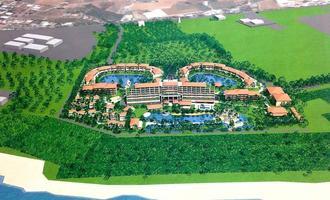 ユニマットプレシャスが宮良地域に計画する高級リゾートホテルのイメージ図
