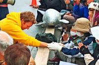 元米兵「ずっと謝りたかった」 沖縄訪問、奪われた土地の歴史知る