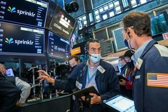 23日のニューヨーク証券取引所(同取引所提供・AP=共同)
