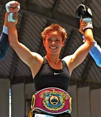 天海、地元沖縄で王座防衛 ボクシングWBO女子世界ライトフライ級