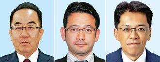 (左から)西銘恒三郎氏、国場幸之助氏、宮崎政久氏