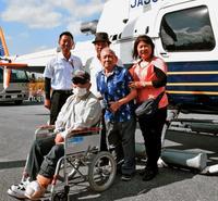 ヘリから見たハンセン病療養所に「絆」の文字 沖縄「生きていて良かった」