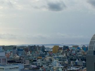 慶良間諸島が見えるほど、天気のいい一日でした。