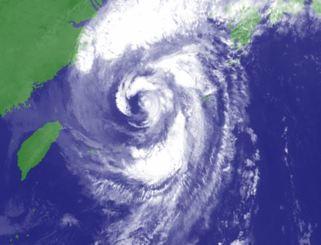 5日午前5時50分の台風25号(気象庁HPから)