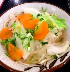 かつおだしで野菜を蒸した野菜そば