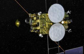 地球に向けてカプセルを切り離す「はやぶさ2」の想像図(JAXA提供)
