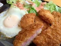 宜野座村の食事処 恵ちゃんでハムカツ定食を食べたの巻 運転手メシ(215)