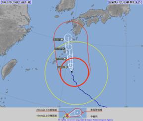 台風10号の進路図(気象庁HPから)