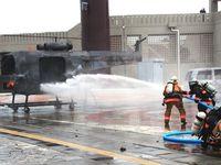ヘリ墜落、多数のけが人想定 沖縄の18消防本部が合同訓練