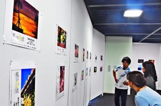 本紙読者投稿「私の一点」の写真展が始まった=23日、那覇市・タイムスギャラリー