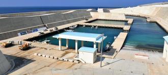 2月2日に開港式が開かれる南大東漁港(北大東地区)