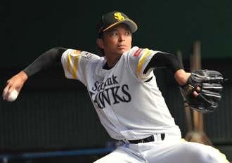 16勝を挙げ、プロ野球パ・リーグの最多勝を獲得したソフトバンクの東浜巨選手
