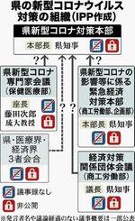 県の新型コロナウイルス対策の組織(IPP作成)