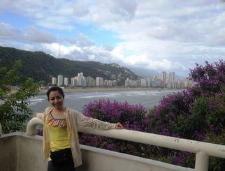 【リオの有名観光地、コパカバーナを彷彿とさせるサンビセンテの景色】