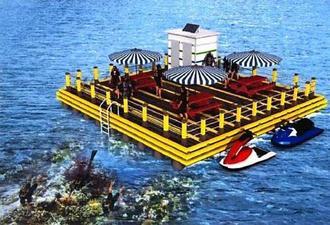 海上レクリエーション施設「シーベース」のイメージ図(国頭村役場提供)