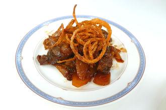 牛肉のカットステーキ ジャポネソース