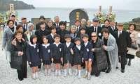 「命のバトンを託します」対馬丸慰霊碑、鹿児島・宇検村で除幕式