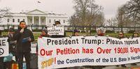 トランプ大統領 工事を止めて/米で県系人ら訴え/ホワイトハウス前