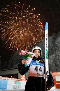 W杯ジャンプ女子、高梨は2位 蔵王大会、イラシュコが優勝