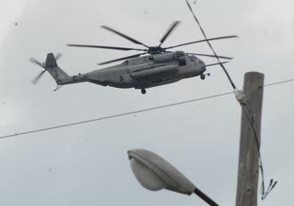 CH53E大型輸送ヘリ(沖縄県内、2012年撮影)