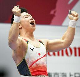初の五輪出場に向け、記録を更新し続けてきた男子73キロ級の宮本昌典=2019年7月、東京都